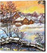 Winter Evening. Acrylic Print
