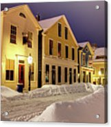 Winter In Historic Downtown New Bedford Acrylic Print