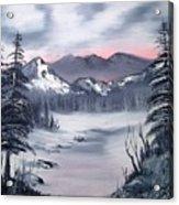 Winter In Three Colors Acrylic Print