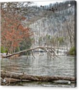 Winter Landscape At Hungry Mother State Park Acrylic Print