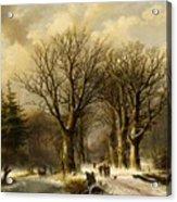 Winter Scene In Reichswald Acrylic Print