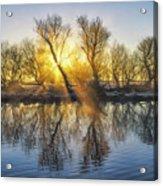 Winter Sunrise Over The Ouse Acrylic Print