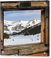 Winter Window Acrylic Print