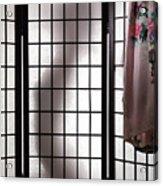 Woman Behind Shoji Screen Acrylic Print by Oleksiy Maksymenko