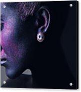 Woman In Purple Powder Acrylic Print
