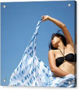 Woman In Sarong Acrylic Print