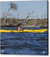 Woman Kayaking Acrylic Print