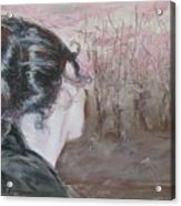 Woman Looking Over The Street Acrylic Print