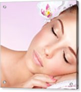 Woman Relaxing On Massage Table Acrylic Print