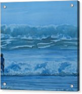 Women In The Surf Acrylic Print