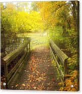 Wooden Bridge Acrylic Print