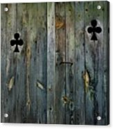 Wooden Door Acrylic Print