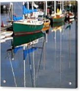 Wooden Ships On The Water Acrylic Print