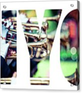 Word Nyc Parade In New York. Acrylic Print