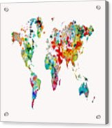 World Map 3b Acrylic Print