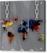 World Map Collection Acrylic Print