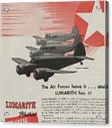 World War II Advertisement Acrylic Print