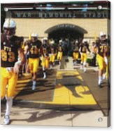Wyoming Cowboys Entering The Field Acrylic Print