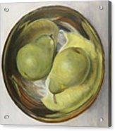 Yin Yang Pears Acrylic Print