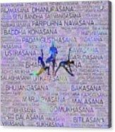 Yoga Asanas / Poses Sanskrit Word Art  Acrylic Print