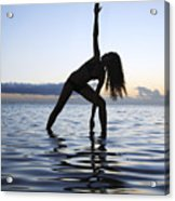 Yoga On The Coastline Acrylic Print by Brandon Tabiolo - Printscapes