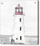 You're My Beacon Peggy's Cove Lighthouse Acrylic Print