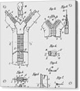 Zipper Patent Art  Acrylic Print