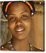 Zulu Maiden Acrylic Print