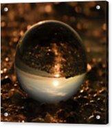 10-17-16--8585 The Moon, Don't Drop The Crystal Ball, Crystal Ball Photography Acrylic Print