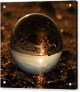 10-17-16--8590 The Moon, Don't Drop The Crystal Ball, Crystal Ball Photography Acrylic Print