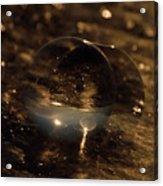 10-17-16--8634 The Moon, Don't Drop The Crystal Ball, Crystal Ball Photography Acrylic Print