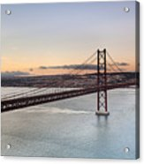 25th Of April Suspension Bridge In Lisbon Acrylic Print