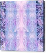 Floral Abstract Design-special Silk Fabric Acrylic Print