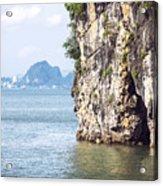 Picturesque Sea Landscape. Ha Long Bay, Vietnam Acrylic Print