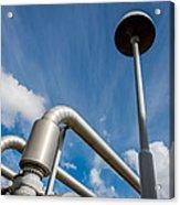 Pipes At Nesjavellir Geothermal Power Acrylic Print