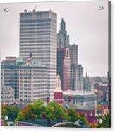 Providence Rhode Island City Skyline In October 2017 Acrylic Print