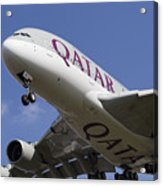 Qatar Airlines Airbus A380 Acrylic Print