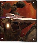 Star Wars At Poster Acrylic Print