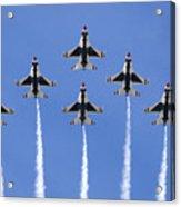 Us Air Force Thunderbirds Flying Preforming Precision Aerial Maneuvers Acrylic Print