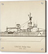 U.s. Coast Guard Cutter Polar Sea Acrylic Print