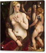 Venus With A Mirror Acrylic Print