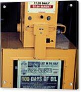 100 Days Of Oil Acrylic Print