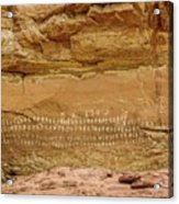 100 Hands Pictograph Panel Acrylic Print