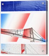 1000 Island International Bridge Triptych Acrylic Print