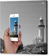 1000 Words-byron Bay Lighthouse Acrylic Print