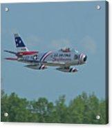 100_4272 F-86 Sabre Fighter Jet Acrylic Print