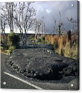 100925 Lava Flow On Road Hi Acrylic Print