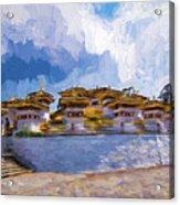 108 Stupas Acrylic Print