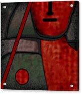 109  Minimalist Portrait .v.. Acrylic Print