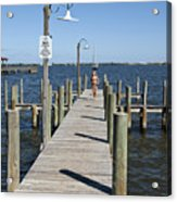 Indian River Lagoon At Eau Gallie In Florida Usa Acrylic Print